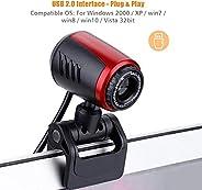 كاميرا اوكسورا يو اس بي 12 ميجابيكسل اتش دي وكاميرا ويب 360 درجة مع مايكروفون كليب لاجهزة الكمبيوتر واللاب توب
