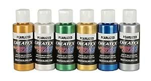 Createx kit 6 colori perlati aerografo 60 ml