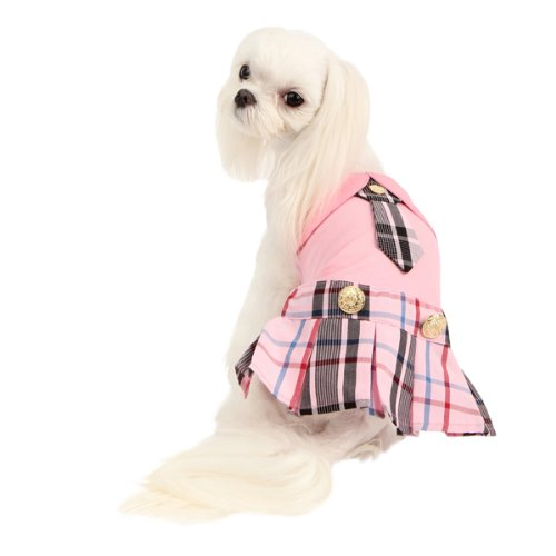 Puppia PAMB-OP978 Hundeshirt Kleid Junior, L, rosa (Rosa Junior Kleider)