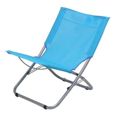 10T Sunchair XL Textilene Strandstuhl klappbarer Campingstuhl bequemer Klappstuhl robuste Sonnenliege mit luftdurchlässigem Sitz-Bezug und Tragegriff (Picknick Strand-klappstuhl)