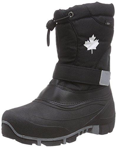 Canadians 467 185, Unisex-Kinder Warm gefütterte Schneestiefel, Schwarz (Black 008), 42 EU