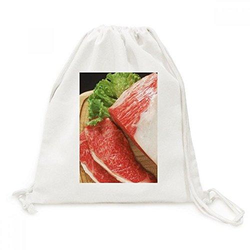 DIYthinker Lammkeule rohes Fleisch Lebensmittel Texture Canvas-Rucksack Reisen Shopping Bags