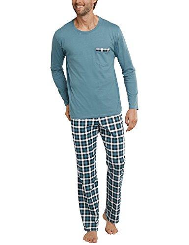 Schiesser Anzug Lang Herren Schlafanzughose, Blau (blaugrün 817), XX-Large (Herstellergröße 110)