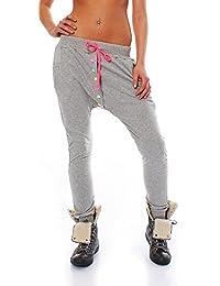 malito Botones Pantaloni Boyfriend Aladin Bombacho Sudadera Baggy Yoga Mujer