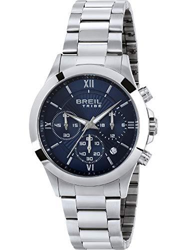 Orologio breil uomo choice quadrante mono-colore blu movimento chrono quarzo e bracciale acciaio ew0331