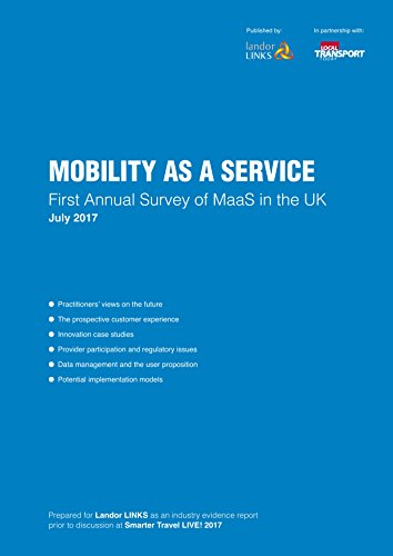 Mobility as a Service: First Annual Survey of MaaS in the UK