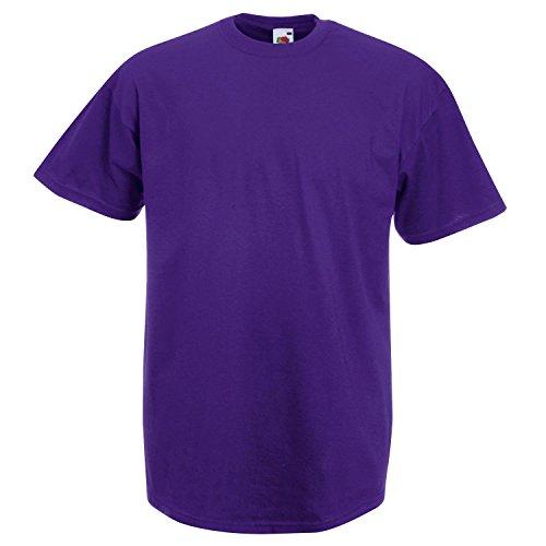 Fruit of the Loom T-Shirt (Valueweight), 27 Farben, kleine bis 4X - Purple - 2XL