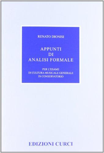 Appunti di analisi formale per l'esame