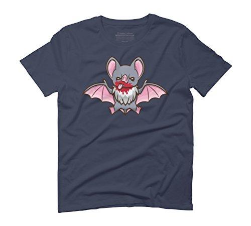 Vampy Bat Men's Graphic T-Shirt - Design By Humans Navy