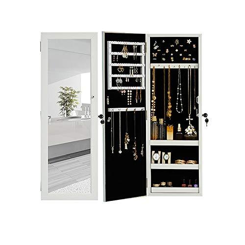 Mirror jewelry armoire armadietti portagioie armadio per gioielli con serratura a specchio, organizer per gioielli a parete, idea regalo,a