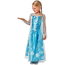 Frozen - Disfraz Elsa classic infantil, talla M (Rubie's Spain 620975-M)