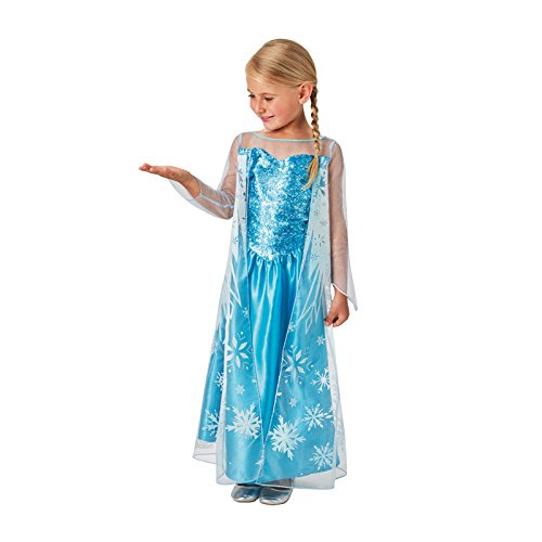 Rubies 3620975 - Elsa Frozen Classic, Action Dress Ups und Zubehör, M (5-6Y)