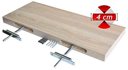 Staffe Per Mensole A Scomparsa.Regalwelt Mensola Design Canldeboard Con Staffe A Scomparsa Bianco Opaco 300x130x38