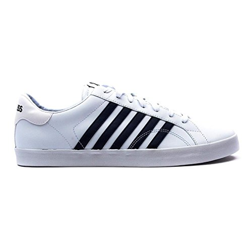 K-Swiss BELMONT SO, Sneakers basses homme Blanc - Weiß (WHITE/NAVY 109)