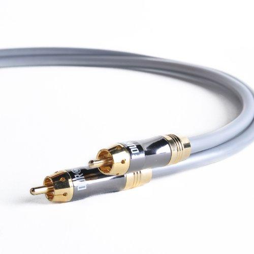 Duronic 1r003/2m - Cable de audio RCA macho a macho 24K de 2 metros