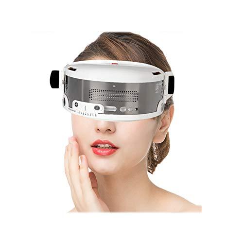 JMung Elektrische tragbare Augenmassagegerät Augenmaske Augenschutzmittel gegen Kälte und Hitze verhindern Myopie bei Kopfschmerzen Stressabbau Eye Relax Travel Office Home Car