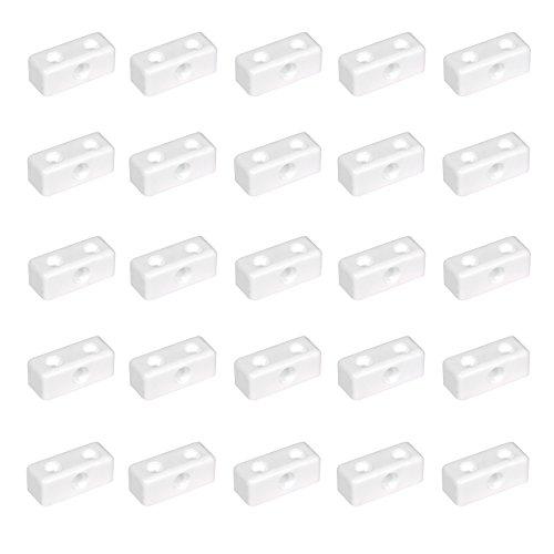 25x Weiße Verbindungsblöcke, ideal zum Anschließen und Stützen