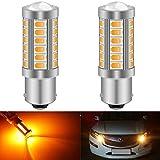 KaTur 2pcs BAU15S 7507 1156PY PY21W 5630 33-SMD Ambre 900 Lumens Super Bright LED...