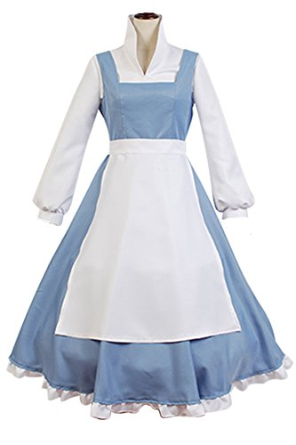 Manfis Prinzessin Kostüm Dienstmädchen Kleid Damen Hellblau - Billig Kostüm Für Erwachsene