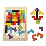 DOTBUY Puzzle de Madera 3 años, Colorido de Madera Geometría Bloque...