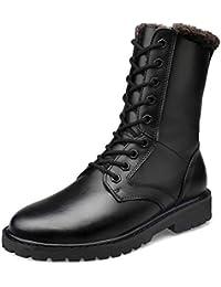6d810bbd20d90 FCBDXN Botas Altas Para Hombre Martin Boots Zapatos Casuales De Punta  Redonda Bota De Cuero Real