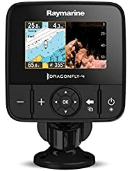 "Raymarine DragonFly 4PRO-CEUR - Sonda, pantalla 4.3"", GPS y CHIRP/DownVision, incluye transductor CPT-DVS y conventional sonar, carta C-MAP Essentials Europa"