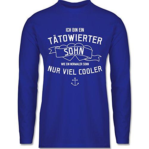 Typisch Männer - Ich bin ein tätowierter Sohn - Longsleeve / langärmeliges T-Shirt für Herren Royalblau