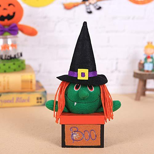 ndy Box Candy Jar Neuheit Stoff Vorratsbehälter Vampir Kürbis Candy Box Halloween Dekoration - eine Hexe ()