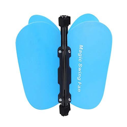 Golf Power Swing Fan, Golf Swing Griff Pinwheel Speed   Practice Training Griffhilfe Abnehmbare auf Club Putter(Blau) -