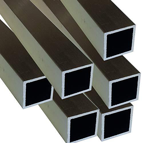 Alu Quadratrohr 20 x 20 x 1,5 mm Vierkantrohr Voliere Aluminium AlMgSi0,5 Rechteckrohr Profil Aluprofil Rohr (200 cm)