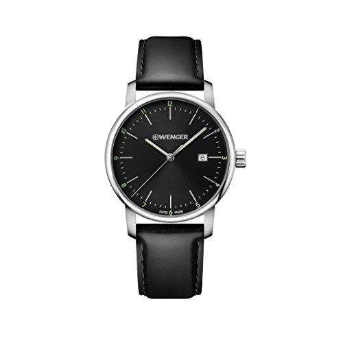 WENGER Reloj Analogico para Unisex de Cuarzo con Correa en Cuero Urban Classic NO.: 01.1741.110