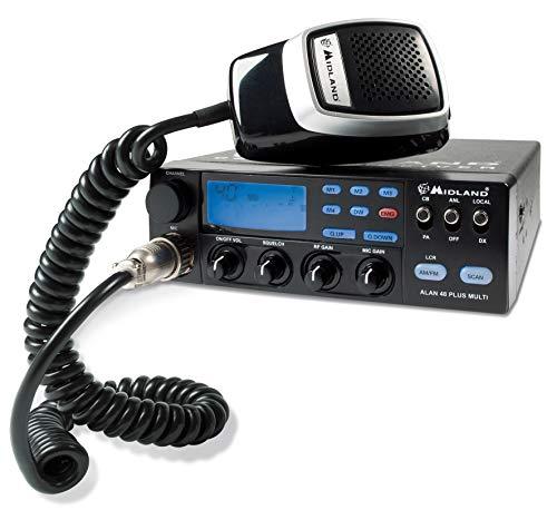 Midland ALAN 48 Plus Multi B CB Radio Ricetrasmittente Veicolare Avanzato Multibanda,...