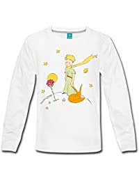 Spreadshirt The Little Prince With Fox and Rose Teenagers' Premium Longsleeve Shirt