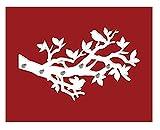 Klebefieber Deko-Wandhaken Vögel auf AST B x H: 80cm x 48cm