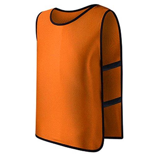 chenpaif Team Fußball Fußball Training Erwachsene Pinnies Trikots Scrimmage Weste Plus Größe orange -