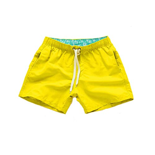 AYG Damen Badeshorts Schwimmshorts Causal Strand Shorts UV Schutz Badehose Swim Shorts Für Frauen (Shorts Swim Frauen Xl)