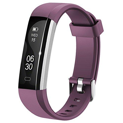 Fitness Armband Lintelek NEU fitness tracker Sport Uhr Smart Bracelet Notifications Anrufe SMS Nachrichten Reminder Smartwatch Schrittzähler Schlaftracker Aktivitätstracker für Android und iOS Violett