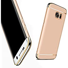 Galaxy S6 Funda,HAVE1SEE Hybrid Luxury Shockproof Armor Back Ultra-thin Funda Cover Removable Funda for Samsung Galaxy S6 Gold