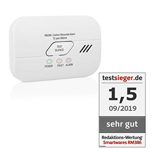 Smartwares 10 Jahres Co Melder/Kohlenmonoxid-Warnmelder, mit wechselbarer Batterie, RM386