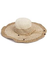 Kylin Express Casquette été plage pliable Chapeau de soleil femme Abricot Couleur Crème)