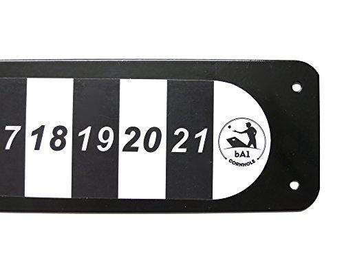 BA1Sports-magnetische Cornhole Anzeigetafel, Offizieller Verordnung Wetterfest Stahl Aufkleber, Befestigung an Jedem Cornhole Board, Ideal Heckklappe Zubehör, Orange (Desktop-fall-tower)