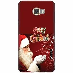 Printland Designer Back Cover For Samsung galaxy C7 - Christmas Fun Cases Cover