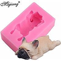 Star Trade Inc – Molde de silicona para decoración de pasteles, diseño de perro bulldog