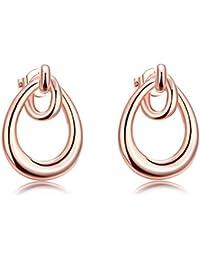 TPHui Women Earrings Water Oil Tricyclic Earrings Rose gold earrings Women's Elegant Earrings