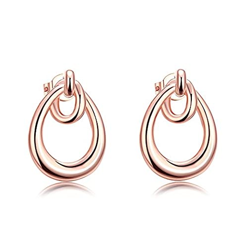 FushoP Larme Boucles d'oreilles Nœud (Rose plaqué or)
