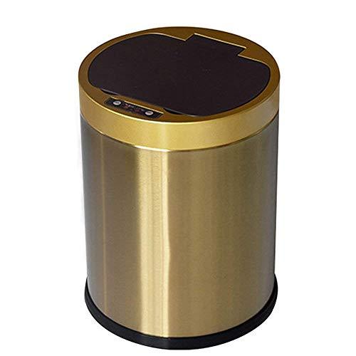 XHHWZB Sensore di movimento a infrarossi automatico Touchless Cestino, con secchio interno del secchio dei rifiuti e batteria ricaricabile, 12 litri / 3,2 galloni, acciaio inossidabile con boccola, us