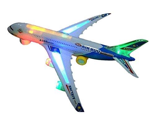Toyshine Airbus Toy, Musical Airbus Aeroplane for kids, Blue White