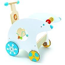 Cochecito andador oso polar andador con ruedas de goma,diversión lúdica multifuncional con bucle de motor integrado, desarrolla la motricidad fina, medidas aprox. 47 x 35 x 48 cm