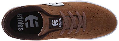 Etnies Cut, Chaussures de Skateboard Homme Marron - Marron (Marron/blanc/Gum 218)