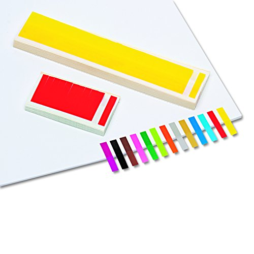 Redi-Tag 20205pequeño rectangular quitar/reutilizable página banderas, 1x 3/16, Assorted, 3.600/Bulk Pack